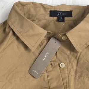 J. Crew Dresses - J Crew Tie-waist Shirtdress Cotton Poplin NWT